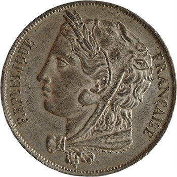 IIe République, concours de 5 francs par Gayrard non signé, 1848 Paris