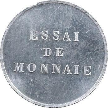 IIIe République, essai du 1/4 de réal, tranche striée, 1872 Paris