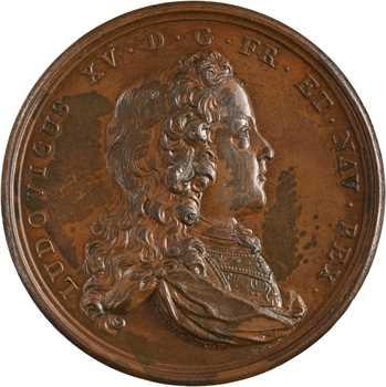 Louis XV, l'Histoire métallique de Louis XIV sera poursuivie en sa mémoire, 1723 Paris