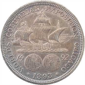 États-Unis, demi-dollar, Christophe Colomb, 1893 Philadelphie