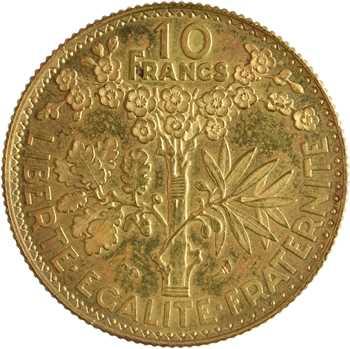 IIIe République, essai de 10 francs par Bazor, 1929 Paris