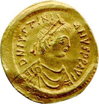 Justinien Ier, semissis, Ravenne, 527-565