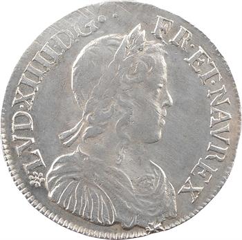 Louis XIV, demi-écu à la mèche longue, 1652 Tours