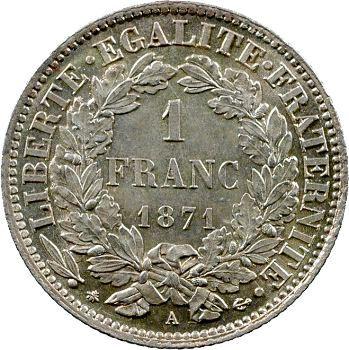 IIIe République, 1 franc Cérès, 1871 Paris