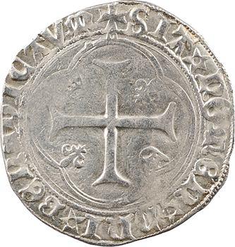 Charles VIII, blanc à la couronne (points/molettes et DEI GRA), Châlons-en-Champagne
