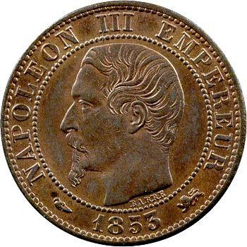 Second Empire, cinq centimes tête nue, 1853 Lyon