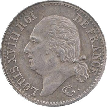 Louis XVIII, 1/4 de franc, 1822 Paris