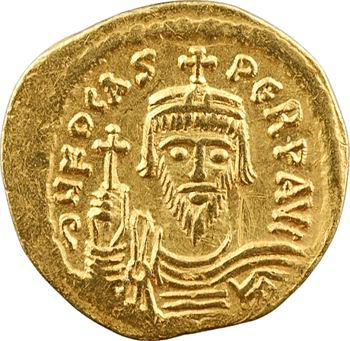 Phocas, solidus, Constantinople, 2e officine, 607-610