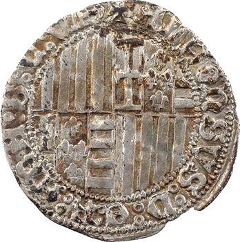 Italie, Naples, Alphonse Ier d'Aragon, carlin, s.d. (1450-1455) Naples