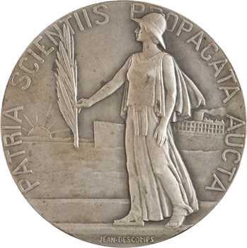 IIIe République, Académie des sciences coloniales, en argent, par Descomps, 1922 Paris