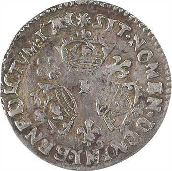 Louis XIV, dixième d'écu aux trois couronnes, faux d'époque [1711 Limoges]