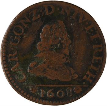 Ardennes, Charleville (principauté de), Charles Ier de Gonzague, liard 2e type, 1608 Charleville