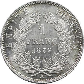 Second Empire, 1 franc tête nue, 1859 Paris