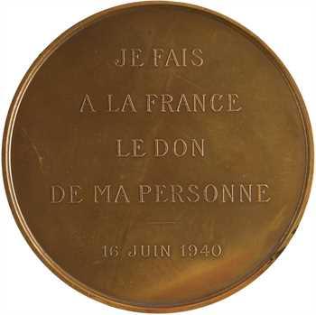État français, le Maréchal Pétain, par Dammann, DON DE MA PERSONNE, 1940 Paris
