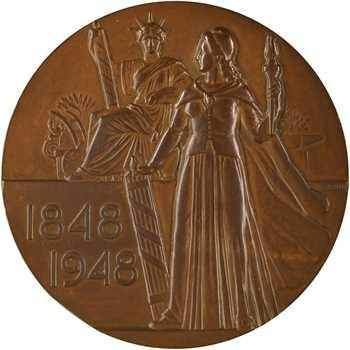 IVe République, centenaire de l'abolition de l'esclavage, par Bazor, 1848-1948 Paris