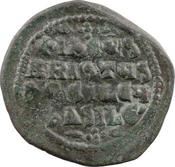 Basile II/Constantin VIII ou XIe s., follis anonyme, classe A2, Constantinople, s.d. (c.976-1028)