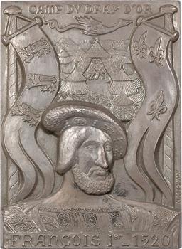 Ve République, François Ier, le camp du Drap d'Or de 1520, plaque en argent par Leognany, N° LVIII, 1973 Paris