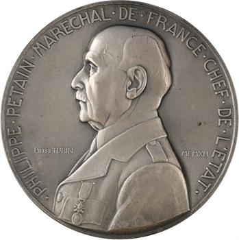 État français, le Maréchal Pétain, par Pierre Turin, 1941 Paris