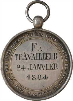 Louis-Philippe Ier, Orient de Paris, loge les Amis Bienfaisants et les Imitateurs d'Osiris Réunis, 1840 (1884)