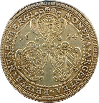 Allemagne, Nuremberg (ville de), Ferdinand II, thaler doré, 1624 Nuremberg