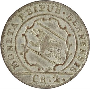 Suisse, Berne (canton de), 4 kreuzer (1 batzen), 1789 Berne
