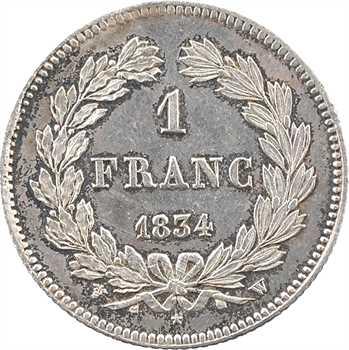 Louis-Philippe Ier, 1 franc, 1834 Lille
