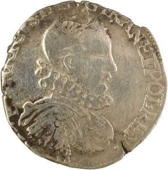 Henri III, teston 3e type, 1575 Rouen