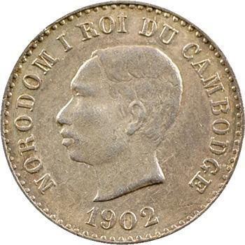 Cambodge, Norodom Ier, module de 50 centimes Souvenir, 1902 Phnom Penh