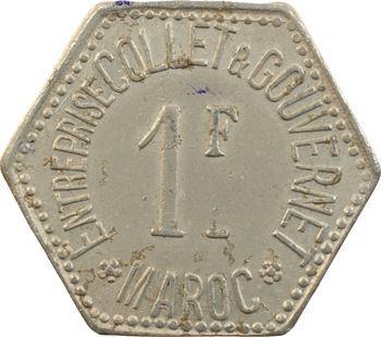 Maroc, 1 franc, entreprise Collet et Gouvernet, s.d