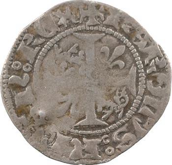 Dauphiné, Viennois (dauphins du), Charles III dauphin et Roi (Charles VII), quart de gros, s.d. Crémieu