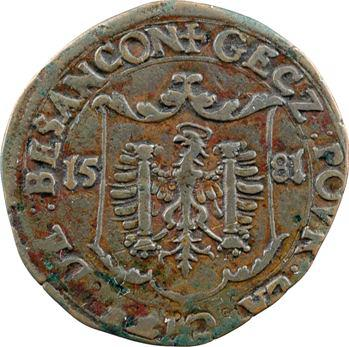 Franche-Comté, Besançon, jeton des services de comptes de la cité, 1581