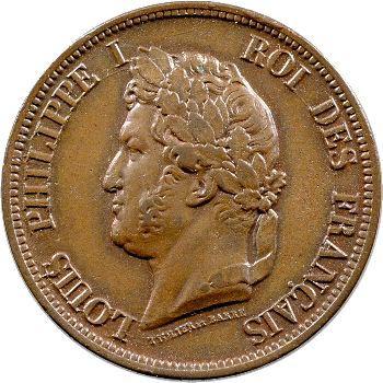 Louis-Philippe, 10 centimes des colonies françaises, 1841 Paris