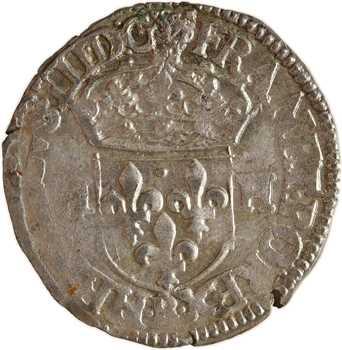 Henri III, douzain aux 2 H, 3e type, 1587 Rouen