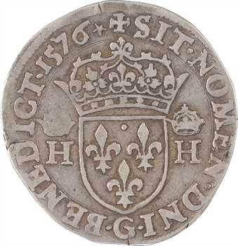 Henri III, teston 3e type, 1576 Poitiers