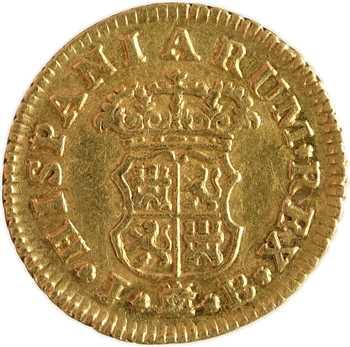 Espagne, Ferdinand VI, demi-escudo, 1756 Madrid