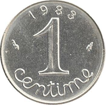 Ve République, 1 centime épi, 1983 Pessac