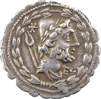 Aurelia, denier serratus, Rome, 105 av. J.-C.