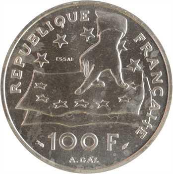 Ve République, essai de 100 francs Descartes, 1991 Pessac