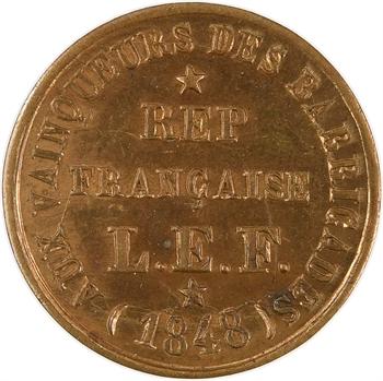 IIe République, aux vainqueurs des barricades et proclamation de la République, 1848 Paris