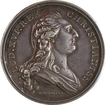 États-Unis / France, Louis XVI, le traité de Versailles, par Duvivier (DU VIVIER), détournée en mariage de mariage, 1783 (1784) Paris
