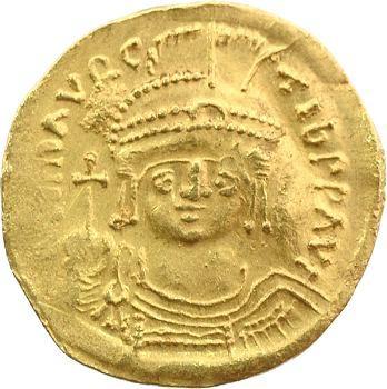 Maurice Tibère, solidus, Constantinople, 585-586