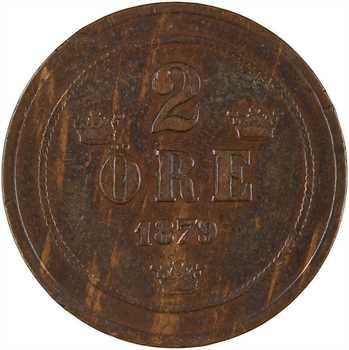 Suède, Oscar II, 2 Ore, 1879