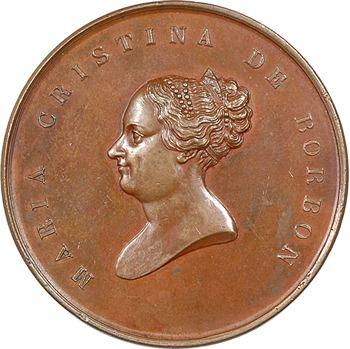 Espagne, retour de Marie-Christine de Bourbon à Barcelone, par Jubany, 1844