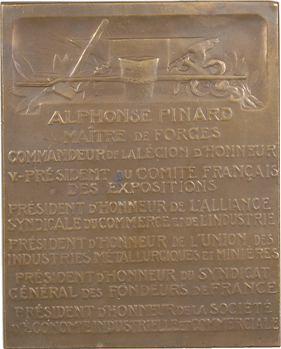 IIIe République, Comité français des Expositions, Alphonse Pinard, par É. Blin, s.d. Paris