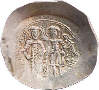 Isaac II, aspre d'électrum, Constantinople, c.1185-1195