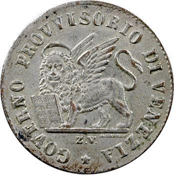 Italie, Venise (ville de), gouvernement provisoire, 15 centesimi, 1848