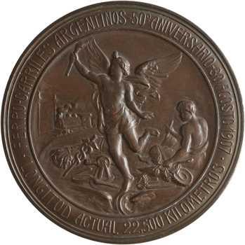 Argentine, cinquantenaire des chemins de fer, 1857-1907