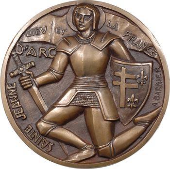 Barbier (A.) : Jeanne d'Arc, fonte uniface, s.d. (c.1950)