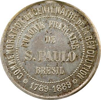 Brésil, Sao Paulo (colonie française de), centenaire Révolution française, 1889