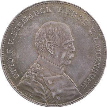 Allemagne, réconciliation de Guillaume II et de Bismarck, thaler de souvenir, 1894 Nuremberg